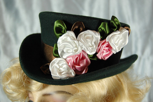 Victorian Rose Mini Top Hat, Noxenlux Chapeaux