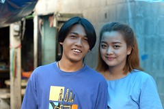 nice looking young couple (the foreign photographer - ฝรั่งถ่) Tags: jul192015nikon two people young couple khlong lat phrao portraits bangkhen bangkok thailand nikon d3200