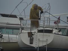 Away for the Winter (cgwilfongphotos) Tags: sailboat sailing boat drydock sailor cleaningforwinter portelgin marina lake huron lakehuron