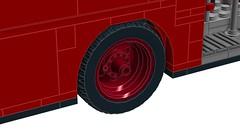 10258 London Bus - Dually Mod (RS 1990) Tags: lego digitaldesigner ldd mod 10258 london bus red double decker dually 2017 tyre tire wheel rim