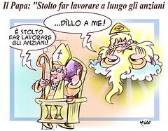 """Papa e Anziani (Moise-Creativo Galattico) Tags: editoriali moise moiseditoriali """"editorialiafumetti"""" giornalismo attualità satira vignette papa anziani"""