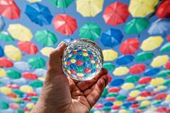 Malpartida de Cáceres. Bajo los paraguas. (Gabino Cisneros) Tags: malpartidadecáceres malpartida caceres paraguas color colores extremadura gabino cisneros gabinocisneros nikon nikond750 d750 afsnikkor1635mmf4gedvr 1635 nikon1635 1635f4 bola boladecristal cristal crystalball ball