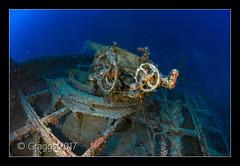 _MG_0327 (Graggs) Tags: scuba diving technical tec tek underwater under water photography uwp malta ss le polynesien ship wreck deep gun controls aft stern