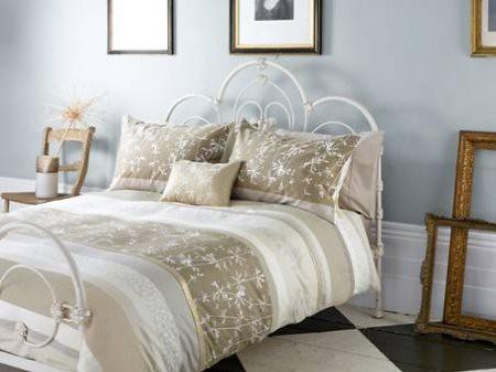 Clarissa Hulse Moonstone striped bed linen