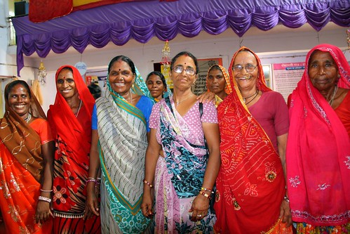 Meeting with women farmers