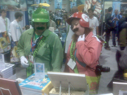 Mario & Luigi - Fantagraphics at Comic-Con 2010