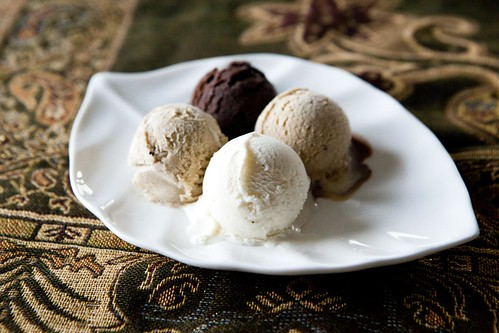 (Four) homemade ice cream flavors of the week