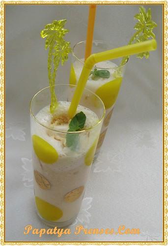 şeftalili milkshake