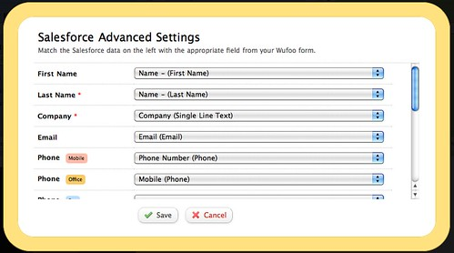 Salesforce Advanced Settings