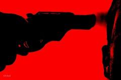 :: photo shoot :: (VisionIkonic) Tags: red me digital photography flickr gun shot head  suicide cologne kln weapon roulette russian ich jaz photokina kopf selbstmord pistole kopfschuss samomor visionikonic