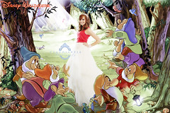 Disney Special (claudiaveja) Tags: color fairytale photoshop photography bride dress princess 7 editing snowwhite c5 whiterabbit dwarfs claudiaveja
