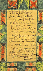 Picasso at The Metropolitan Museum of Art. Illustrated Letter to Jean Cocteau, November 16-19, 1916 (renzodionigi) Tags: nyc newyork painting contemporaryart modernart modernism moma picasso metropolitanmuseum arthistory cubism pittura