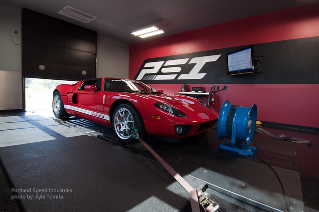 Ford GT on dyno at Portland Speed Industries 4