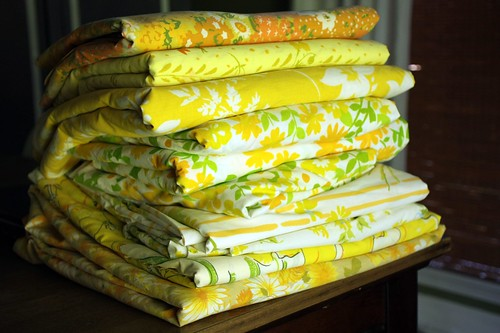 stack of lovely yellow