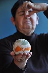 citrus kaput (novopix) Tags: portrait orange selfportrait fruit smell citrus rotten mould stink gonebad mouldy penicillin goneoff onthenose