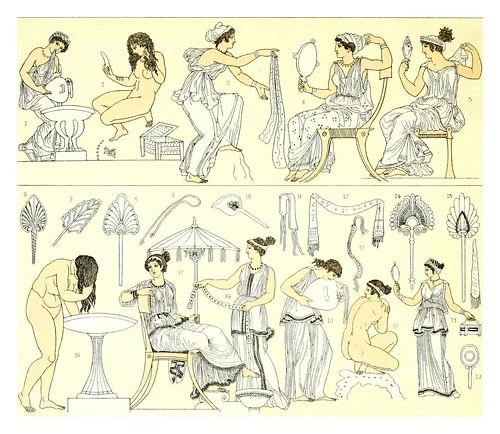008-La toilette s en la Grecia clasica -Geschichte des kostüms in chronologischer entwicklung 1888- A. Racin