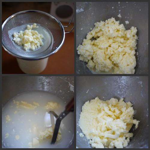 Cultured butter - Straining and washing