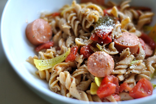 Spicy Pepper Pasta with Sausage