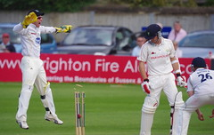 Elation (Brighthelmstone10) Tags: sussex hove bat bowl andrew glamorgan bowler wicket batsman hodd sussexcountycricketclub glamorgancountycricketclub andrewhodd