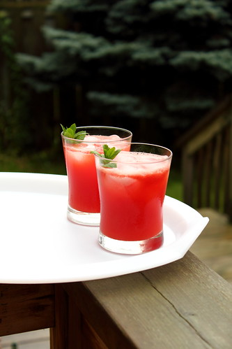 Watermelon lemonade with a hint of raspberry for Munchn'Crunch by Adventuress Heart