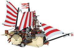 Medium Steam Airship Mk. LVI (bow) (aillery) Tags: war lego military great zeppelin steam blimp imperial airship battleship machines warship dirigible steampunk