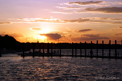 Pink and Gold (Michele Ford) Tags: sunset sky water marina maritime belmar newjerseyusa
