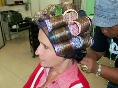 Wet Roller Set (Garnetlocks) Tags: rollers hairnet beautysalon wetset