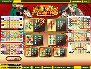 free Mah Jong Madness slot mini symbol