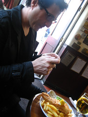 Tantek with fish'n'chips