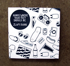 Zlam Dunk CD (randrenfrow) Tags: art illustration design screenprint album cd zlamdunk