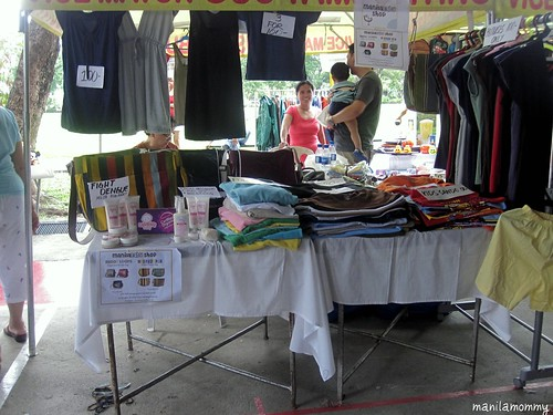 our booth at the tahanan village bazaar