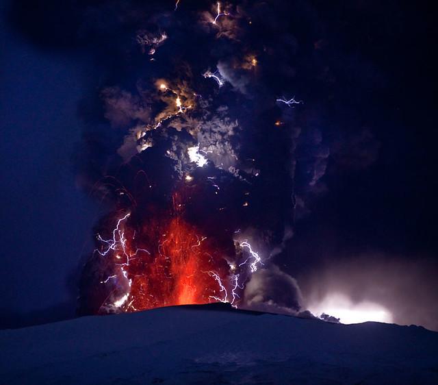Eyjafjallajokull glacier eruption
