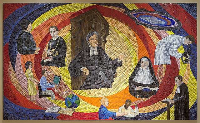 Christian Brothers College High School, in Town and Country, Missouri, USA - mosaic of Saint de la Salle, in the chapel