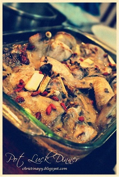 Potluck Monday: Steamed Herbal Chicken