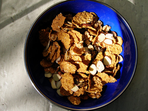 raisin bran with almonds