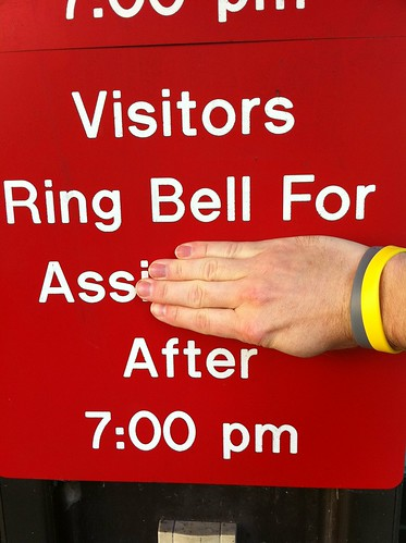Visitors ring bell for ass after 7:00 pm