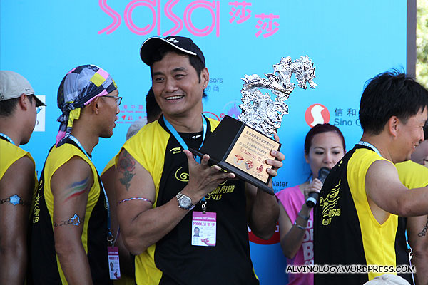 The team from TVB won a trophy too