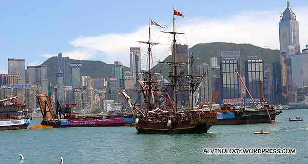 The Bounty - the tall ship which we sailed in the night before
