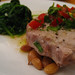 Tuna, borlotti beans and spinach