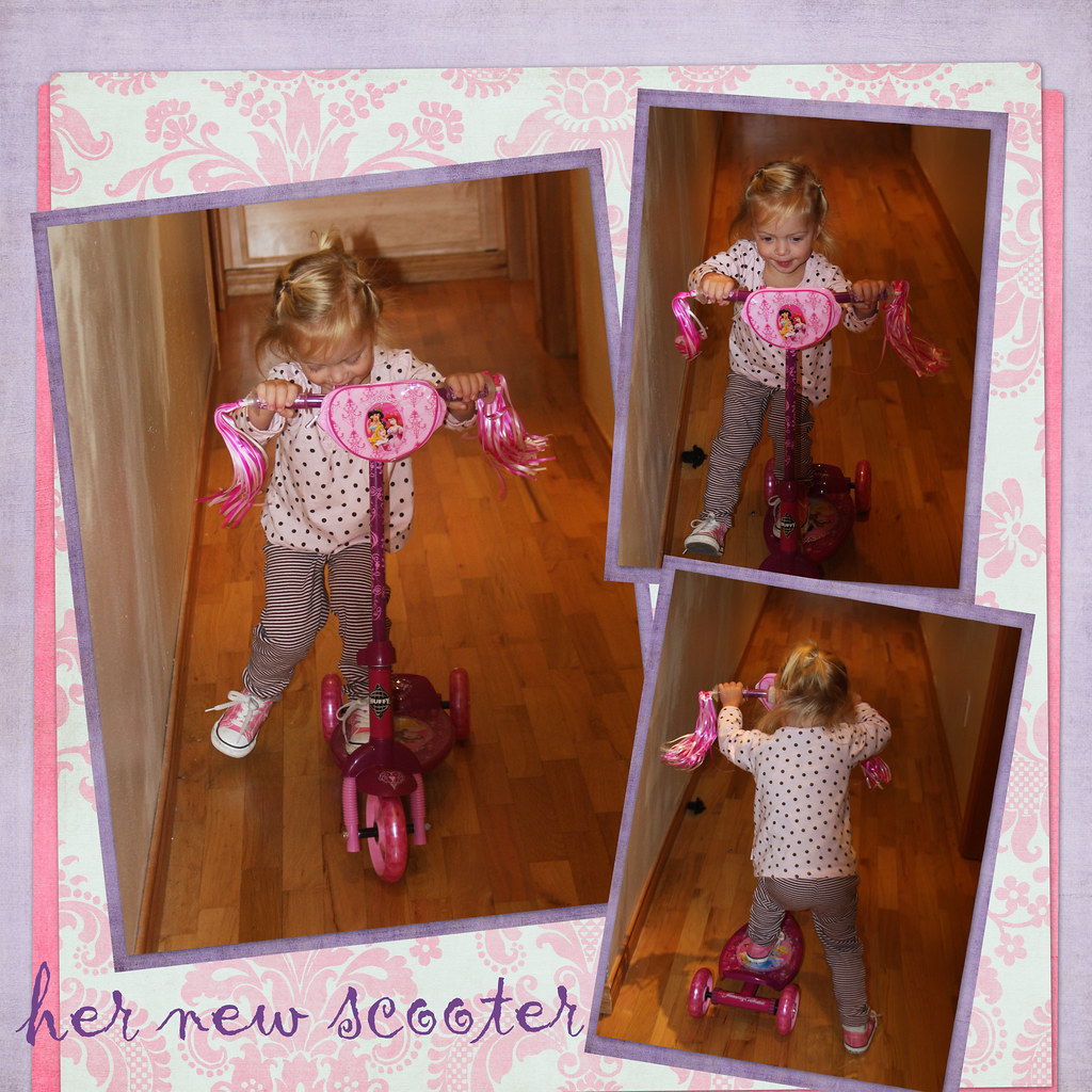 bday scooter collage