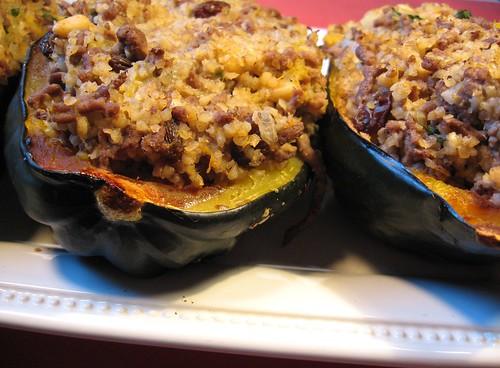 moroccan-style stuffed acorn squash 040