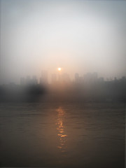 Happy accident (Gabrielle Mass) Tags: china sunset river chongqing yantze