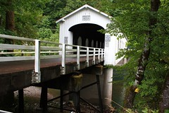 Goodpasture Covered Bridge (fly flipper) Tags: coveredbridge mckenzieriver oregoncascades goodpasturecoveredbridge westernoregon oregoncoveredbridges mckenzierivercoveredbridge oregoncascadesscenicbyway
