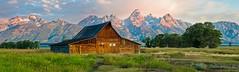 A122471-473mormonrowcr (susannekremer) Tags: usa mountains barn landscape farm wildlife berge getty wyoming bison wildwest grandteton grandtetonnationalpark bestphoto