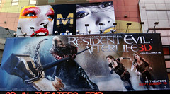 Resident Evil Afterlife 3D Movie Poster Billboard 42nd Street 4583 (Brechtbug) Tags: above street new york city nyc man game building film fashion hammer by movie poster mercedes benz hotel video 3d near destruction side ad evil billboard advertisement hollywood axe week masked avenue 8th 42nd milla afterlife maybelline jovovich hooded resident 9112010