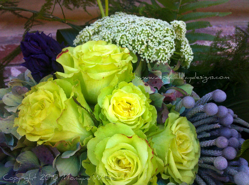 Super green rose antique hydrangea wedding bouquet