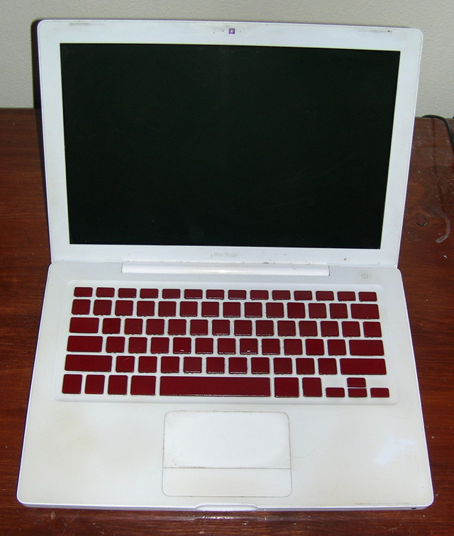 MacBook with Painted Keyboard