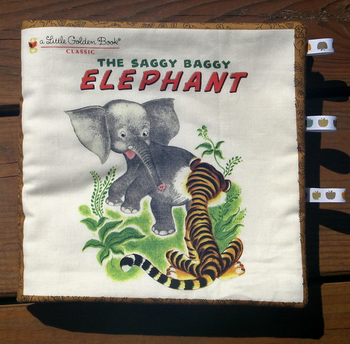 The Saggy Baggy Elephant - A fabric book by Little Golden Books