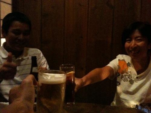tamaGさんとCさんと乾杯