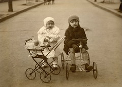 1930 (elinor04 thanks for 22,000,000+ views!) Tags: winter car kids vintage fur toys outdoors photo 1930s doll hungary carriage budapest wear pram childrensfashion vintagefamilyphotocollection elinorsvintagefamilyphotocollection hungariancollection